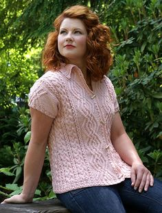 Whispered Inspiration Summer Cardigan by Flora Yang.  A richly textured cardigan featuring classic cable patterns with A-line shaping for a flattering fit.