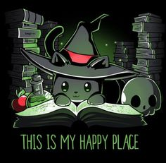Halloween is my happy place. Halloween is my happy place. Cute Animal Drawings, Kawaii Drawings, Cute Drawings, Cute Halloween Drawings, Images Kawaii, Anime Pokemon, Nerdy Shirts, Animal Quotes, My Happy Place