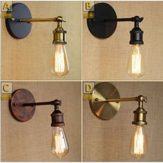 Edison Retro Vintage Wall Lights For Home Lighting Style Loft Industrial Wall Lamp LED Sconce Appliques Murales ArandelaS loft idea -- AliExpress Affiliate's Pin. Detailed information can be found on AliExpress website by clicking on the VISIT button Antique Wall Lights, Rustic Wall Sconces, Bathroom Wall Sconces, Antique Lamps, Coffee Shop Lighting, Bar Lighting, Wall Sconce Lighting, Home Lighting, Rustic Loft
