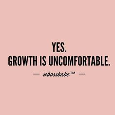 Whoever promised rainbows and unicorns was a liar. Love your discomfort. Push through. It's either growth or deterioration. ✨Take the FREE 3-day #BossBabe starter course by clicking the link in our profile!!