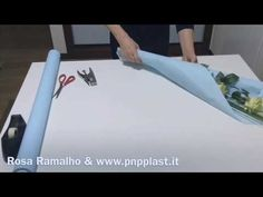 Wrapping two roses with ICE PAPER #wrapflowers - YouTube