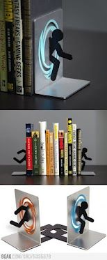 Clever Superhero Bookends Save Books from Falling Superhero