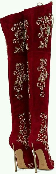 Over the knee Boots ~ Marsala Wine color of 2015.
