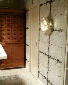 Kitchen,new wallpaper, marocco tile floor