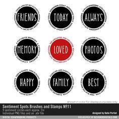 Sentiment Spots Brushes and Stamps No. 11- Katie Pertiet Brushes- DS232464- DesignerDigitals