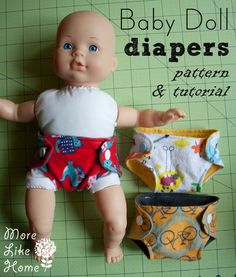 Baby doll diaper pattern and tutorial - perfect for teaching soon-to-be siblings!