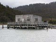 Okarito Wharf, South Westland, NZ.