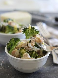 Parmesan Lemon Chicken & Broccoli by runningtothekitchen.  #Chicken #Broccoli