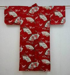 Kimono Sensu Tsuru rot