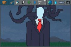 Slenderman is watching... #pixelart #slenderman