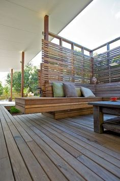 Seat, deck, screen. Timber by Lautall