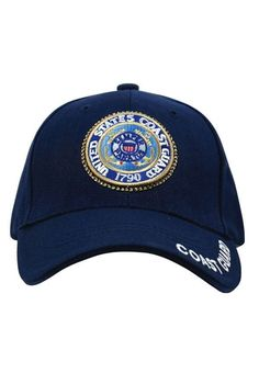 63911cd259e2c Deluxe US Coast Guard Low Profile Insignia Cap Navy Marine