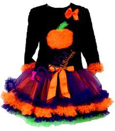 Diseño especial para Halloween Calabacita Pettidress. Genial para Noche de Halloween