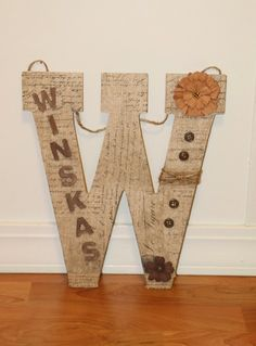 Custom Decorated Wooden Letters by PrematureBabiesStore on Etsy