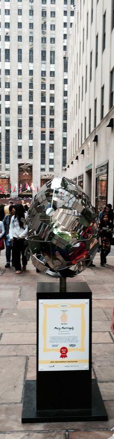 The Fabergé Big Egg Hunt 2014 in NYC, Rokefeller Center; photo Budavari Iren, by BI