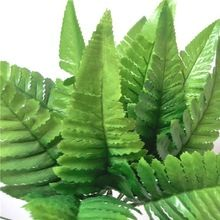 artificial silk fern leaves #6 green, polyester leaves small, lovely and soft, 30pcs/lot(China (Mainland))