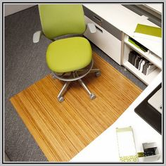 desk chair mat for carpet antique wingback chairs 20 best office images max moso bamboo rug plastic padding