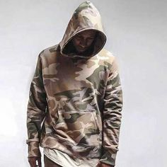 Spring camo pullover hoodie hip hop streetwer tops for men
