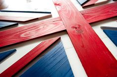 This handcrafted Union Jack wood flag is a beautiful piece of wall art—made in the USA. Custom orders available upon request.