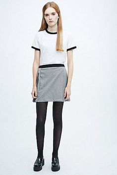 Cooperative by Urban Outfitters Pleated Tennis Skirt in Mono #skirt #women #covetme #cooperativebyurbanoutfitters