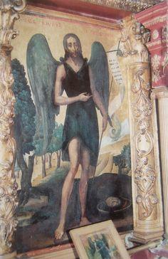 Ο Άγιος Ιωάννης ο Πρόδρομος. Εικόνα στον Άγιο Νικόλαο. (1815). Έργο του Σπύρου Βεντούρα.