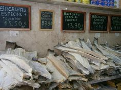 """Lisbon, Portugal: we're crazy about dried cod, """"Bacalhau"""". In fact, it is said that there are 1001 ways of cooking dried cod in Portugal culinary."""
