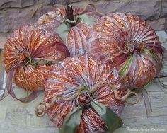 pumpkins made from dryer vents how cool is this