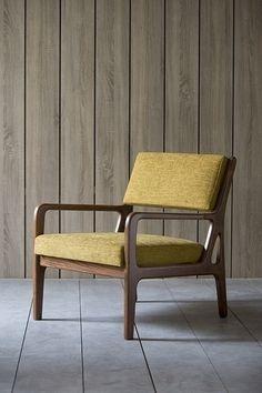 LJH ocher armchair by Kann Design Outdoor Chairs, Outdoor Furniture, Outdoor Decor, Coffee To Go, Metal Chairs, Wood Chairs, Sofas, Accent Chairs, Armchair