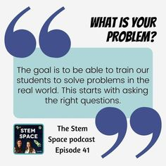 The first step of the engineering design process is arguably the most important! Our students need to know how to ask the right questions to identify the problem before they can attempt to investigate solutions. How do we teach them how to do this? Listen to the latest episode of the STEM Space podcast to hear all about research-based methods of encouraging student questions! Stem Learning, Hands On Learning, Learning Resources, Fun Math Activities, Math Games For Kids, Master Degree Programs, Engineering Design Process, Asking The Right Questions, Secondary Math