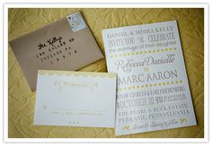 yellow & grey & craft paper oh my!