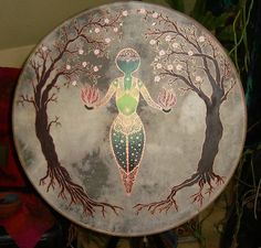 Tambour, Drums Art, Sound Healing, Garden Painting, Tribal Fusion, Occult, Pagan, Nativity, Native American