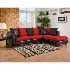 Buy Riverstone Victory Lane Cardinal Microfiber Sectional At Harvey U0026 Haley  For Only 1,180.60. Living Room FurnitureLiving ...