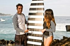 And introducing the world's first ever and only line of shark repellent rash guards    modeled by Hawai'i 5-0 actors Spencer Deavila and Veronica Grey.  Find our shark repellent swimwear on eBay!!!  Spend a day with Spencer http://www.ActiveOahuTours.com