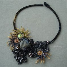 """""""Lights over the river"""" necklace by medvedice"""