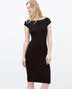 Bild 2 von Kleid aus Rayon mit V-Ausschnitt hinten von Zara