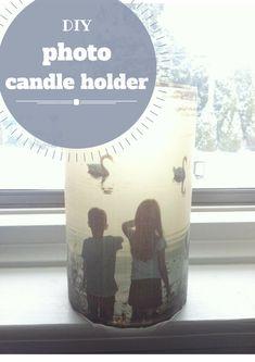 DIY photo candle holder