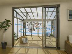 サンルームを取り入れて雨の日でも快適に洗濯物干しを in 2020 Laundry Room Design, Room Interior Design, House Made, House Layouts, Glass House, Living Room Decor, New Homes, House Design, Home Decor