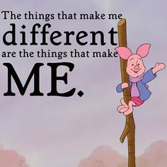 While Piglet would be a 6 on the enneagram, this quote is definitly 4. The 4's ego image revolves around being very different from everyone else so they place their identity into things that are often considered weird by other numbers on the enneagram.