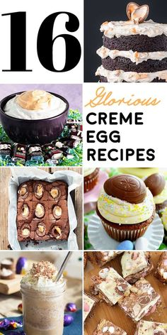 The best candy egg around gets 16 makeovers in this glorious list of creative creme egg recipes. Cadbury chocolate never had it so good! Easter Recipes Sides, Egg Recipes, Dessert Recipes, Easter Cookies, Easter Treats, Easter Food, Holiday Treats, Holiday Recipes, Yummy Treats