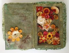 Win Dinn Art, Etc.: I've been searching. Book Sculpture, Sculptures, Altered Books, Searching, My Photos, Decorative Boxes, Floral, Artist, Painting