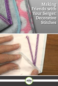 Once you've mastered threading your serger and are comfortable changing the machine settings to create 2-, 3-, and 4-thread stitches, you're more than ready to go beyond the basic construction stitches. It's time to learn just how versatile your serger can be and begin exploring the fun world of decorative stitches.