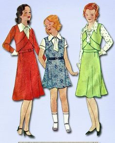 1930s Collectible Girl's Jumper Suit Unused 1931 McCall's Vtg Sewing Pattern #McCall