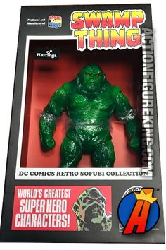 #DCCOMIC #SOFUBI #SWAMPTHING Vinyl Figure. See more collectibles from #MEDICOM here… http://actionfigureking.com/list-3/medicom2/sofubi-from-medicom/medicom-dc-comics-super-heroes-sofubi-swamp-thing-action-figure