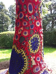 Magically Marvelous Yarn Bomb :)