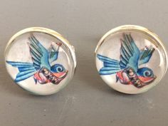 Swallow, Cufflinks, My Etsy Shop, Trending Outfits, Unique Jewelry, Handmade Gifts, Shopping, Vintage, Kid Craft Gifts