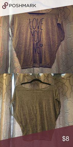 Love You Tee Sheer, lightweight grey fashion casual top Tops Tees - Short Sleeve
