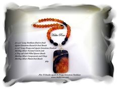 Women's Druzy and Agate Gemstone Necklace