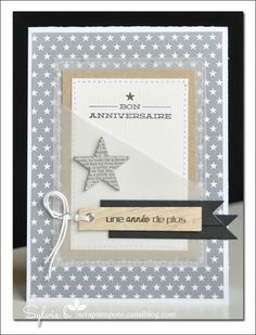 Star Cards, Birthday Scrapbook, Beautiful Handmade Cards, Card Making Inspiration, Masculine Cards, Diy Cards, Paper Cards, Scrapbook Cards, Birthday Greeting Cards