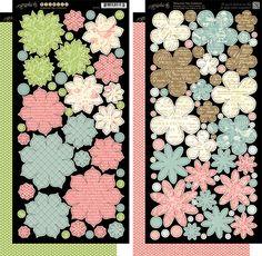 Graphic 45 - Botanical Tea Collection - Cardstock Flowers at Scrapbook.com