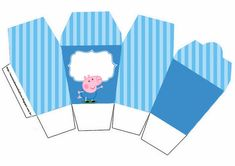cardstock lunch box decorated george pig - Buscar con Google